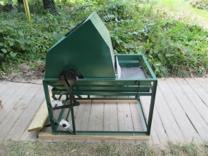 Treadle Powered Grain Thesher
